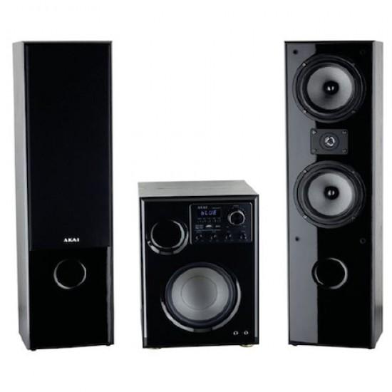 Sistem audio AKAI SS034A-66T, 2.1, 100 W, Bluetooth, USB, Karaoke, Negru